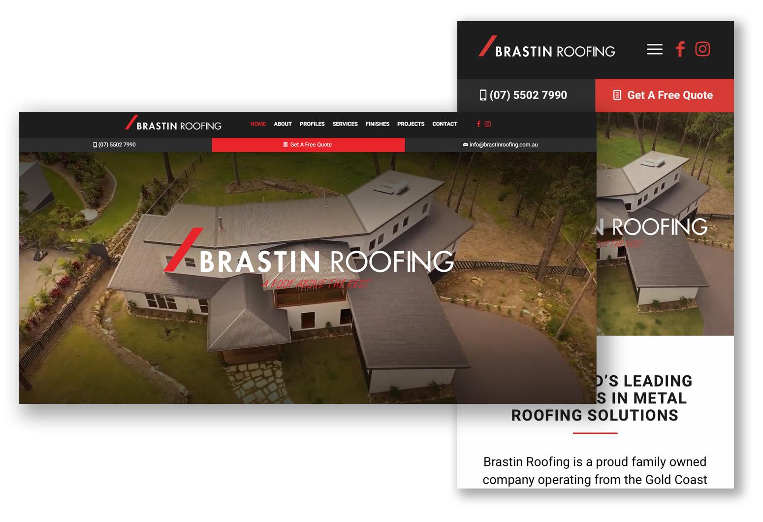 Brastin Roofing Website Design