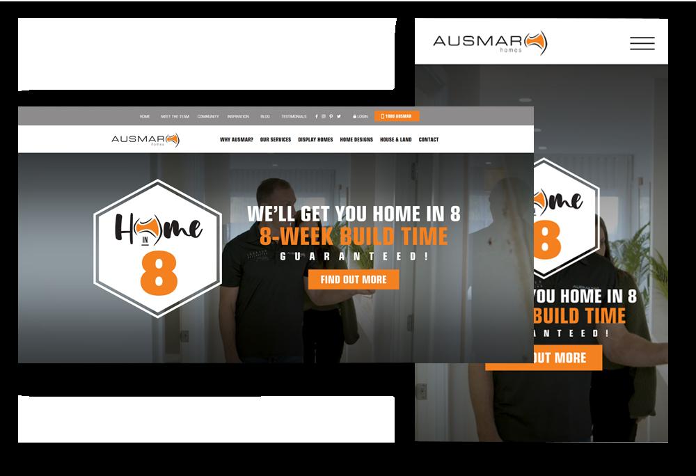 Ausmar Homes webpage