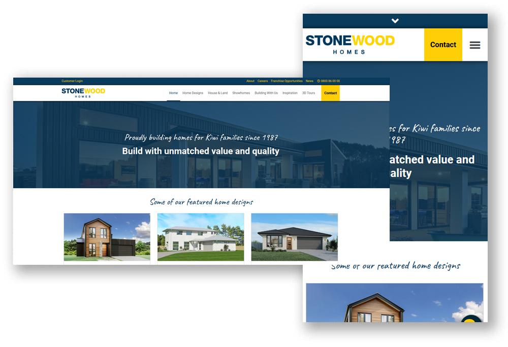 Stonewood Homes website design